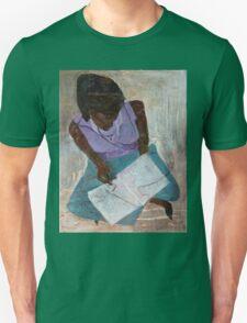 Black Woman Reading Unisex T-Shirt