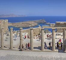 Lindos Stoa by Tom Gomez