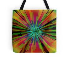 Colorful Psychedelic Pattern Tote Bag