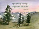 Heavenly Help -  Psalm 121:1-2 by Diane Hall