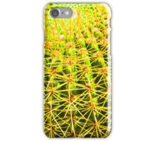 Psychedelic Golden Ball Barrel Cactus Spikes Close-up iPhone Case/Skin