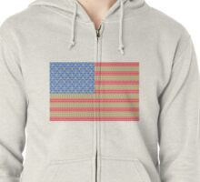 Stamps and Stripes Gold Version Zipped Hoodie