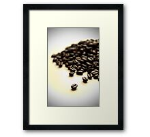 Pile of Fresh Coffee Beans on White with Vignette Framed Print