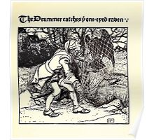 The Wonder Clock Howard Pyle 1915 0325 The Drummer Catches One Eyed Raven Poster