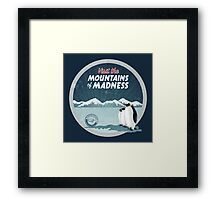 Visit the Mountains of Madness - Round Framed Print