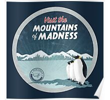 Visit the Mountains of Madness - Round Poster