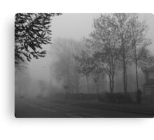 Foggy suburbia Canvas Print