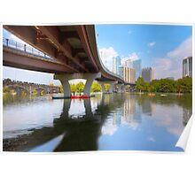 August Summer at Lady Bird Lake in Austin Texas 1 Poster