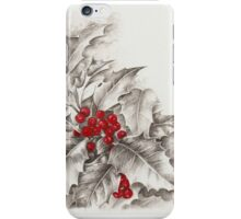 Holly and berries iPhone Case/Skin