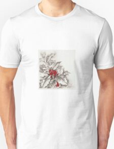 Holly and berries Unisex T-Shirt
