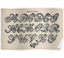 The Signist's Book of Modern Alphabets Freeman F Delamotte 1906 0081 Ornamental Riband Poster