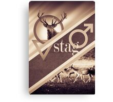 Stag Poster Canvas Print