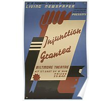 WPA United States Government Work Project Administration Poster 0622 Injunction Granted Biltmore Theatre Poster