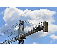 Crane counterweight Photographic Print