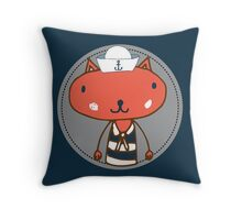 Nautical Adventures: Sailor Cat Throw Pillow