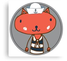 Nautical Adventures: Sailor Cat Canvas Print