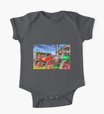 Traction Engine and Steam Lorry One Piece - Short Sleeve