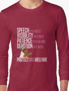 Protect Animal Welfare (white text) Long Sleeve T-Shirt