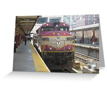 RARE Double Engine Commuter Rail Greeting Card