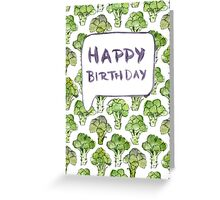Broccoli Birthday Card Greeting Card