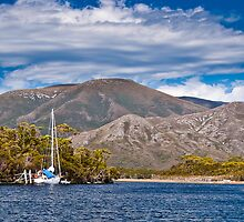 Yacht, South West Tasmania, World Heritage Area by ScottH