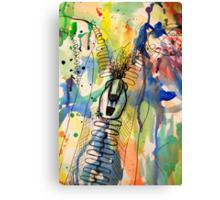 Zip It Canvas Print