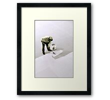 No matter how menial the job, our effort is never wasted... Framed Print