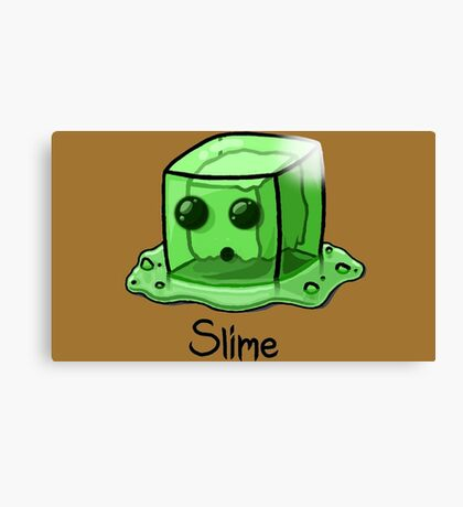 Slime Minecraft Canvas Print
