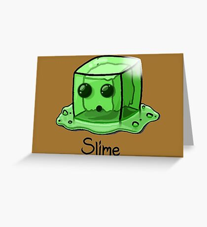 Slime Minecraft Greeting Card