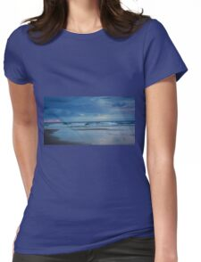 Waves roll in at sunset - Ocean Beach Womens Fitted T-Shirt