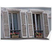 Provencial Weathered Shutters Poster