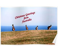Christmas Greetings from Australia. Poster