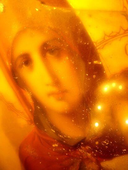 Mary, Timios Stavrios Chapel, Crete by Blake Steele