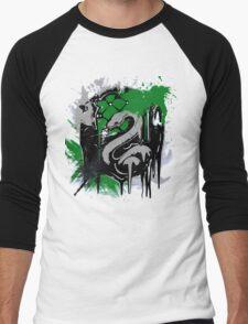 slytherin splatter Men's Baseball ¾ T-Shirt