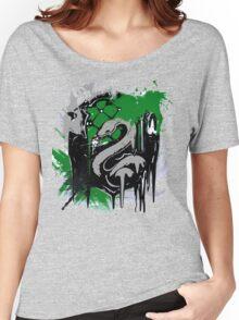 slytherin splatter Women's Relaxed Fit T-Shirt