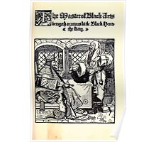 The Wonder Clock Howard Pyle 1915 0079 The Master of Black Arts Bringeth a Curious Little Black Hen to the King Poster