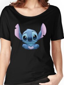 Stitch Heart Women's Relaxed Fit T-Shirt