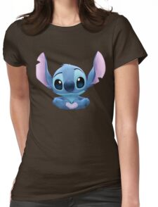 Stitch Heart Womens Fitted T-Shirt