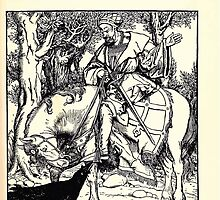 The Wonder Clock Howard Pyle 1915 0089 The King Being Lost in the Forest Meets with the Great Black Raven by wetdryvac