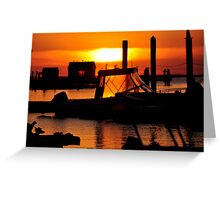 Sunset on Delaware Bay Greeting Card