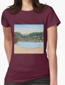 Sailing Boats, Frensham Ponds, Surrey Womens Fitted T-Shirt