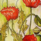 Poppies 2 by Angela Gannicott