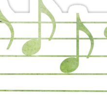 BLUES - Words in Music - Green -  V-Note Creations Sticker