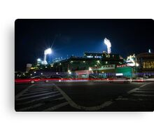 Fenway Park at Night with Light Trail Canvas Print