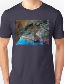 Swimming in the sea caves of Crete T-Shirt