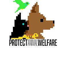 Protect Animal Welfare small design (black text) by Charlotte Gledhill