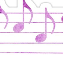 BLUES - Words in Music - Fuchsia Pink -  V-Note Creations Sticker