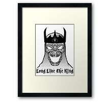 The King Is Dead Framed Print