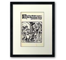 The Wonder Clock Howard Pyle 1915 0077 The Clever Schollar Remains a Baby Ring Framed Print