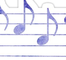 BLUES - Words in Music - Purple -  V-Note Creations Sticker